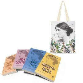 Virginia Woolf Seti - 4 Kitap Takım (Çiçekli Bez Çanta Hediyeli)