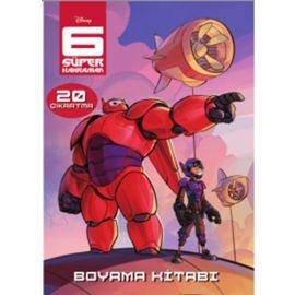 6 Süper Kahraman - Çıkartmalı Boyama
