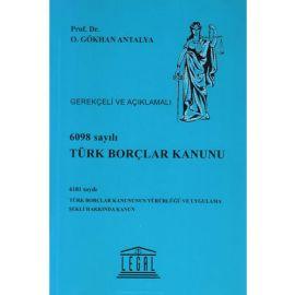 6098 Sayılı Türk Borçlar Kanunu (Ciltli)