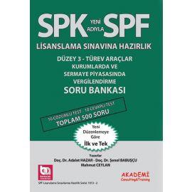 SPK Yeni Adıyla SPF Lisanslama Sınavına Hazırlık - Kurumlarda ve Sermaye Piyasasında Vergilendirme Soru Bankası