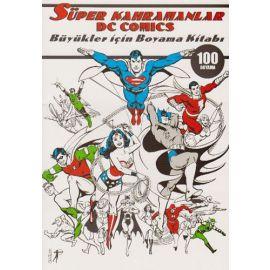 Süper Kahramanlar DC Comics Büyükler İçin Boyama Kitabı