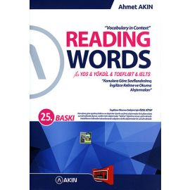 2017 Reading Words for YDS YÖKDİL TOEFLIBT IELTS