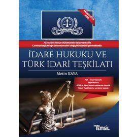 İdare Hukuku ve Türk İdari Teşkilatı