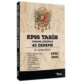 2019 KPSS Tarih 40 Deneme Çözümlü