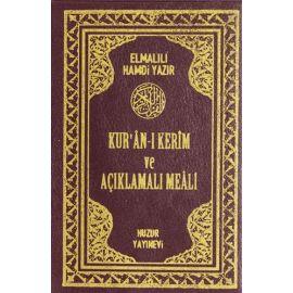 Kur'an-ı Kerim ve Açıklamalı Meali - Yeşil ve Bordo (Cep Boy)