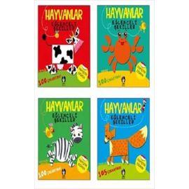Hayvanlar Eğlenceli Şekiller Set - 4 Kitap Takım