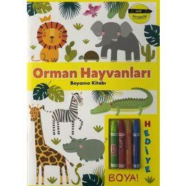Minik Ressamlar - Orman Hayvanları Boyama Kitabı