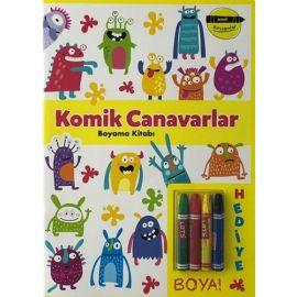 Minik Ressamlar - Komik Canavarlar Boyama Kitabı