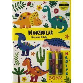 Minik Ressamlar - Dinozorlar Boyama Kitabı