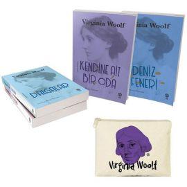 Virginia Woolf Seti - 4 Kitap Takım (Mor Desenli Clutch Cüzdan Hediyeli)