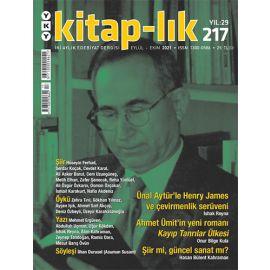 Kitap-lık Dergisi Sayı 217 Eylül - Ekim 2021