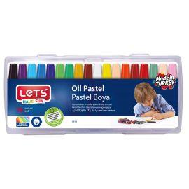 Lets Plastik Çantalı 18 Renk Pastel Boya