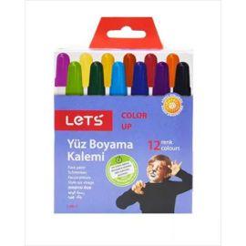 Lets 12 Renk Çevirmeli Yüz Boyama Kalemi