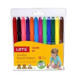 Lets 12 Renk Jumbo Keçeli Kalem