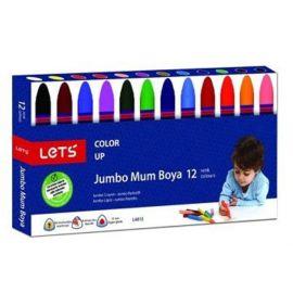 Lets 12 Renk Jumbo Mum Boya (Karton Kutu)