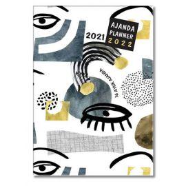 2021-2022 16 Aylık Ajanda - Blue