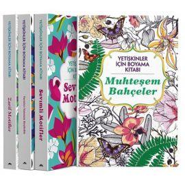 Yetişkinler İçin Boyama Kitabı - 4 Kitap Takım