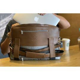 Ozpack Traveler Koyu Kahve Büyük Laptop Çantası