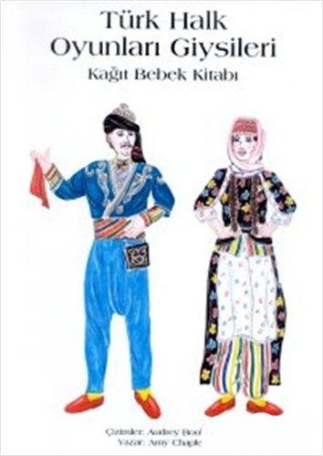 Türk Halk Oyunları Giysileri Kağıt Bebek Kitabı-0