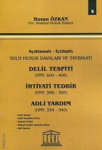 Delil Tespiti, İhtiyati Tedbir Adli Yardım- Seri 5-0